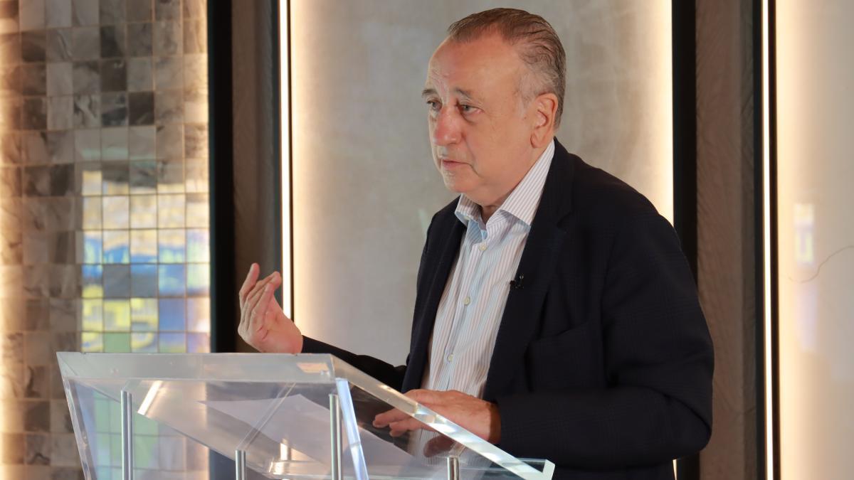 Fernando Roig, presidente del Villarreal CF, en la presentación de la campaña de abonos.