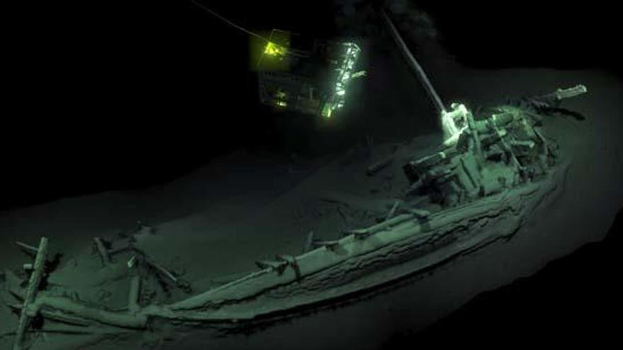 Hallan en el mar Negro un barco de hace 2.500 años