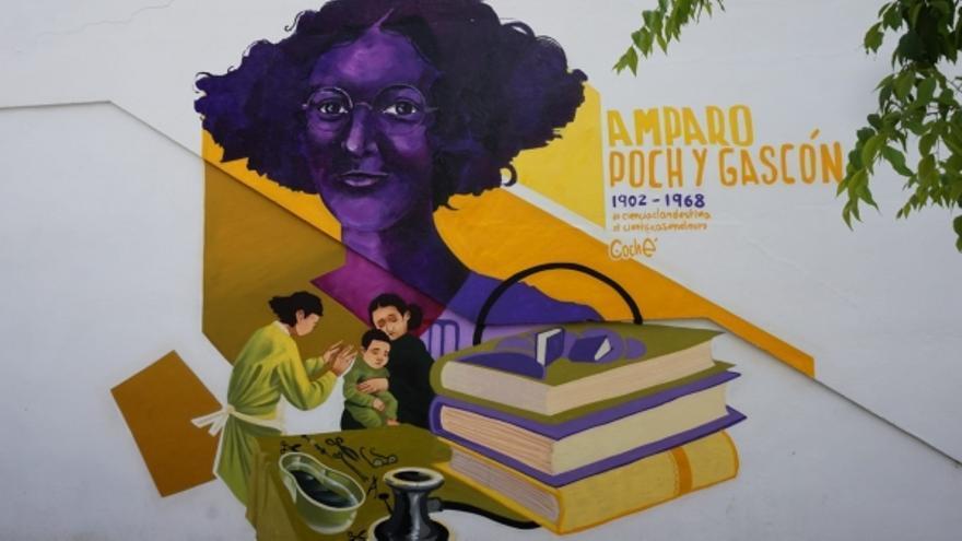 Un grafiti en Aguilar de la Frontera honra la memoria de la científica Amparo Poch y Gascón