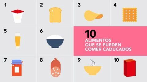 Alimentos que se pueden comer caducados