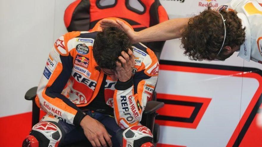 GP de Portugal: Marc Márquez rompe a llorar tras acabar su primera carrera nueve meses después