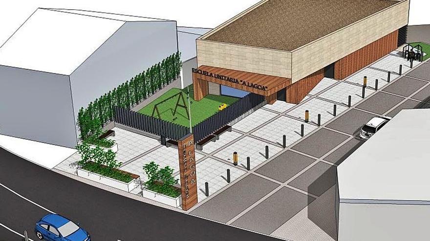 El Concello saca a contratación el nuevo centro social de A Lagoa por 630.000 euros