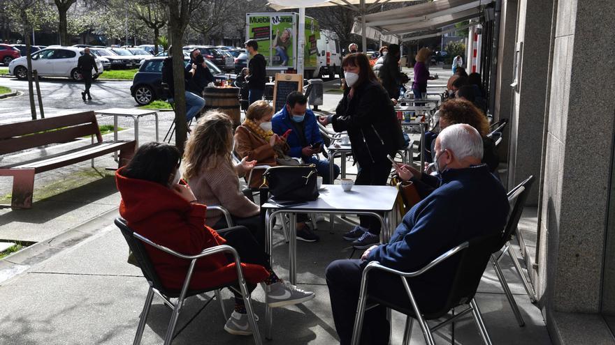 Las terrazas toman las calles de A Coruña