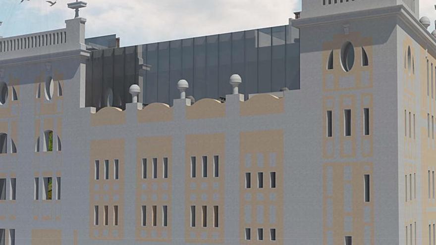 El hotel del  Ideal tendrá luz natural gracias  a una cubierta acristalada