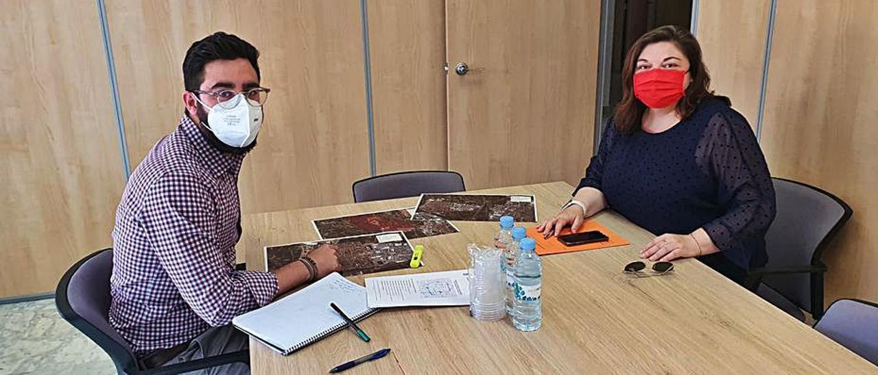 Reunión de Zamora con Martínez Grau.   A.A.
