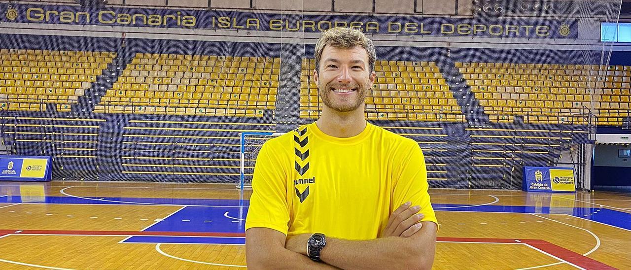 Matt Knigge, jugador del CV Guaguas en el Centro Insular de Deportes.     LP/DLP