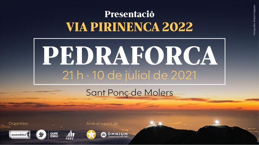 El Pedraforca s'il·luminarà aquest dissabte a favor de la llibertat i el dret d'autodeterminació dels pobles català i basc