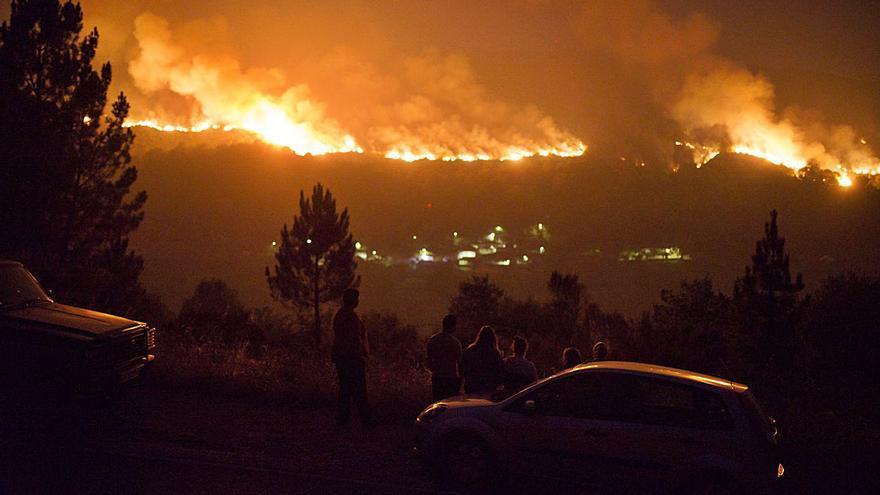 Investigados dos cazadores por un fuego que arrasó 817 hectáreas en Vilariño
