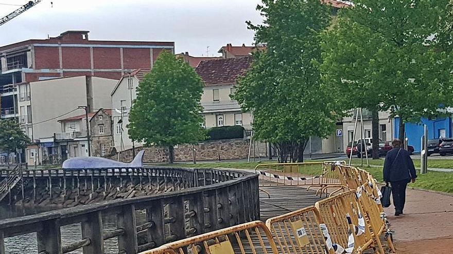Portos adjudica, por 439.000 euros, la reconstrucción de la pasarela de O Con vallada desde hace 26 meses