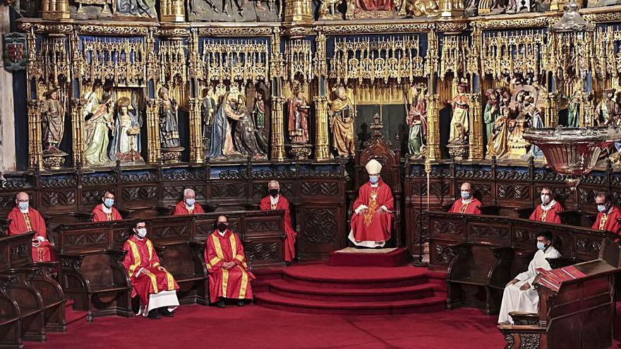 El obispo de Astorga preside la segunda misa del Jubileo