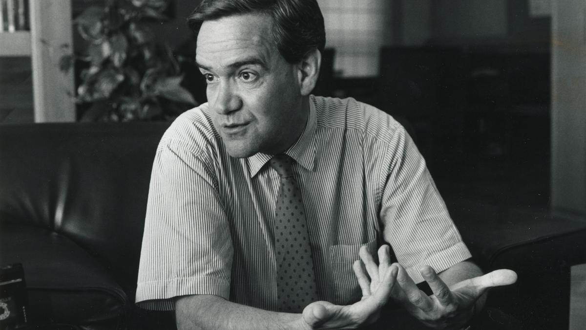 Manuel Giménez Abad en una entrevista a EL PERIÓDICO cuando era consejero de Presidencia de la DGA.