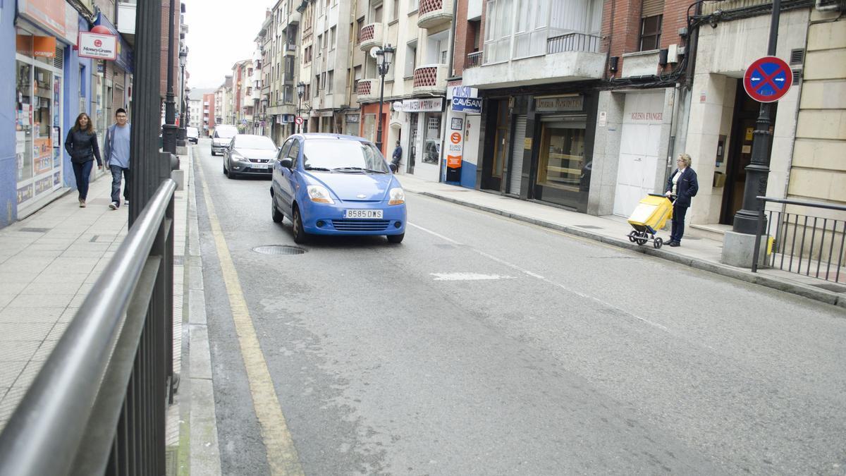 La calle Argañosa de Oviedo.