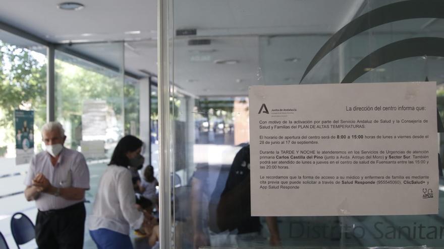 Todos los centros de salud de Córdoba cerrarán desde este lunes en verano, menos el de la Fuensanta