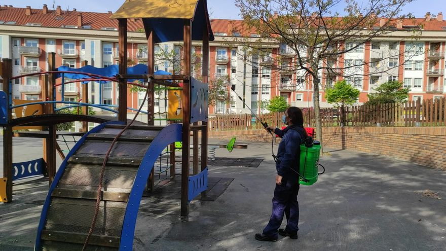 Moaña reabre casi todos sus parques 13 meses después