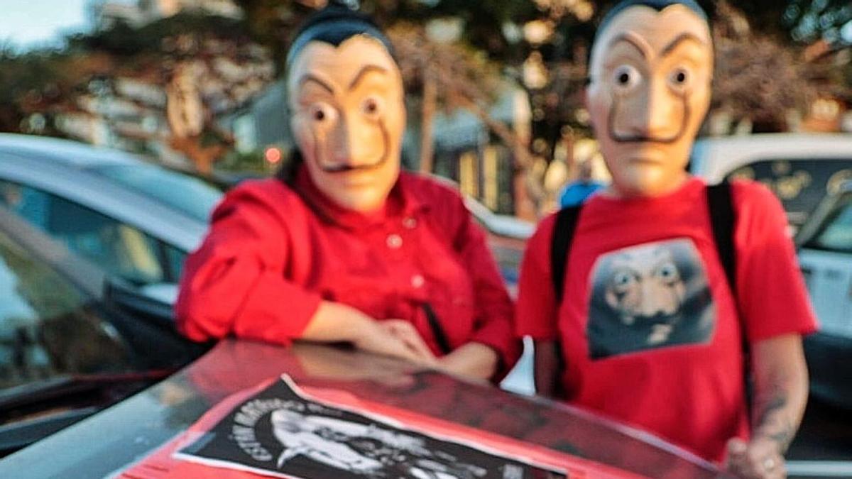 Imagen de una protesta organizada el pasado lunes en la capital tinerfeña. | | MARÍA PISACA