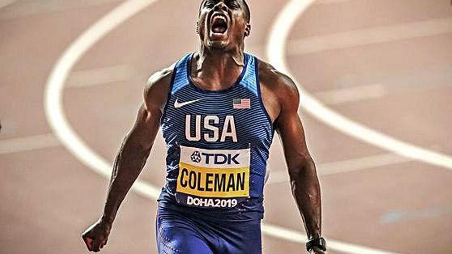 Chris Coleman és el nou rei dels 100 metres al Mundial