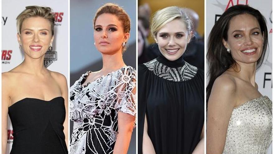 Scarlett Johansson, Angelina Jolie, Lizzie Olsen y Natalie Portman, mujeres al frente de Marvel
