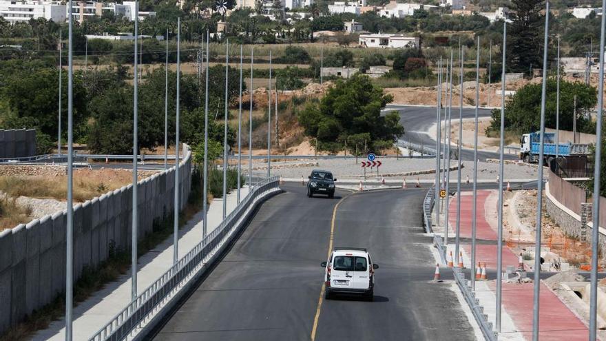 Choque entre un quad y un coche en Ibiza