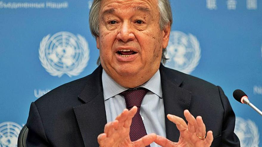«Estem en guerra» contra la COVID-19, diu el secretari general de Nacions Unides