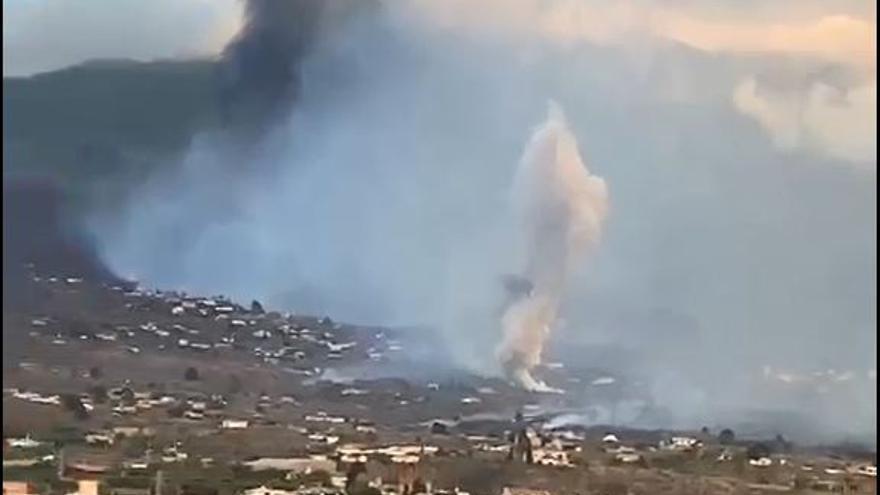 Así surgió la nueva boca del volcán de La Palma