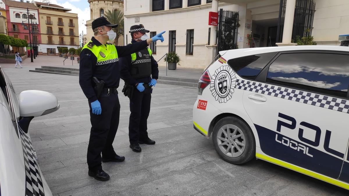 Agentes de la Policía Local de Lucena.