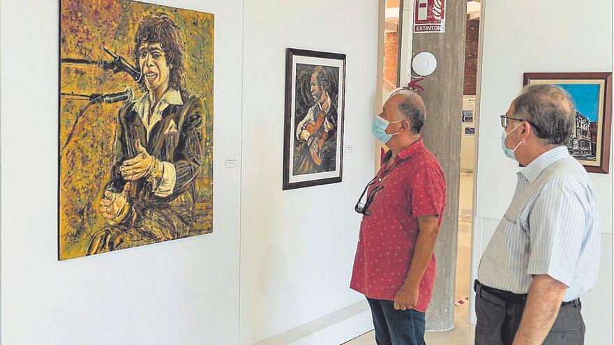 Las pinturas 'flamencas' de Pedro Juan Rabal llegan al Centro Cultural Luzzy