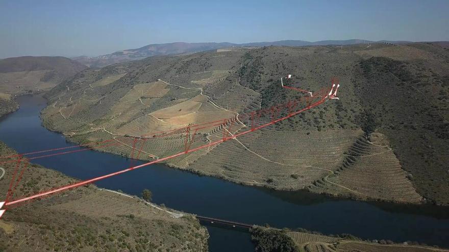 Nuevo puente peatonal de vértigo a un tiro de piedra de Vigo