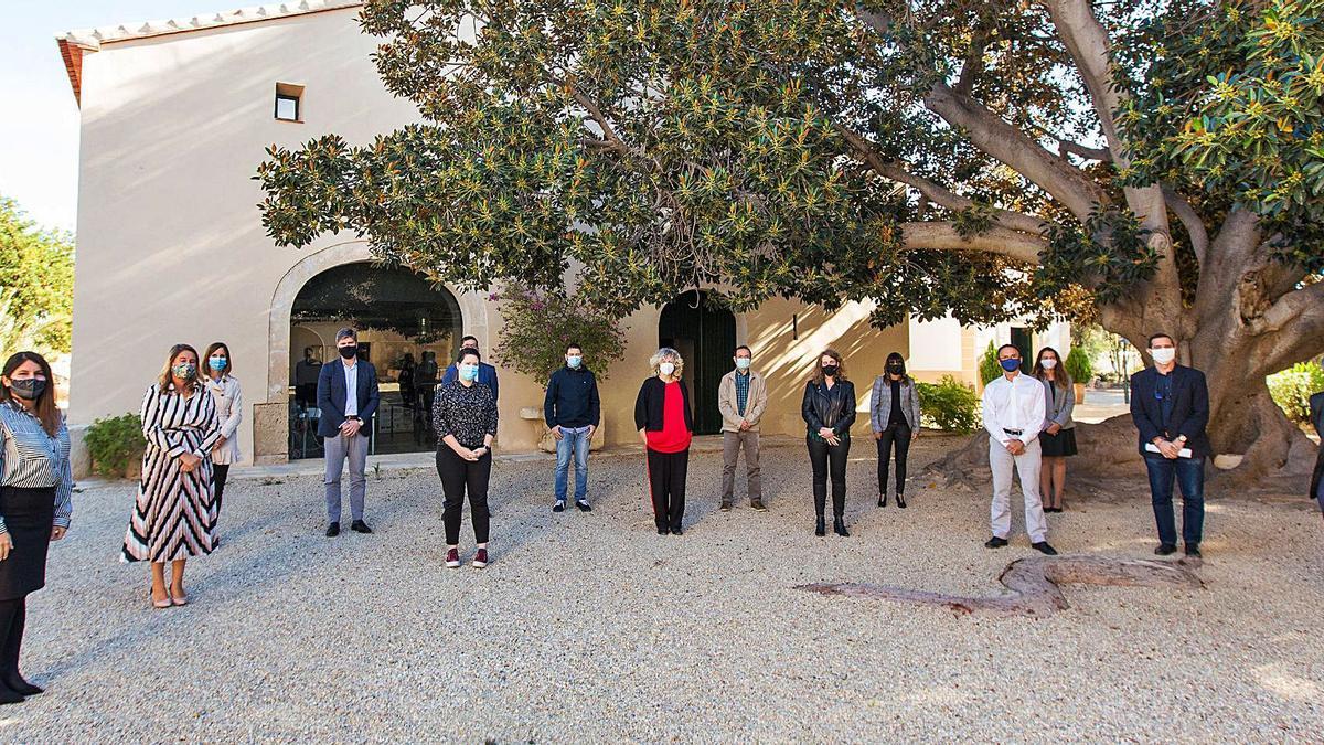 Los participantes en la jornada organizada en las instalaciones de Torre Juana, en Alicante.