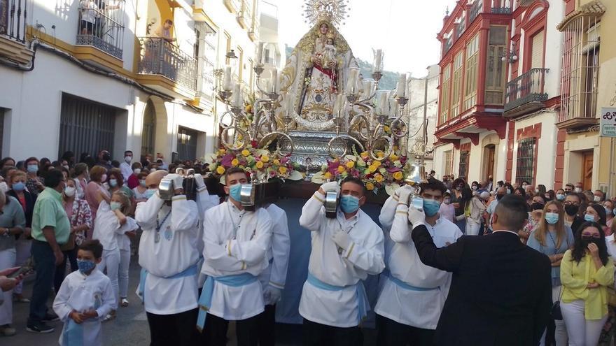 La Virgen de la Cabeza vuelve a salir por las calles ruteñas después de dos años sin procesiones