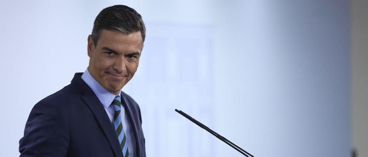 Pedro Sánchez, en una rueda de prensa reciente.