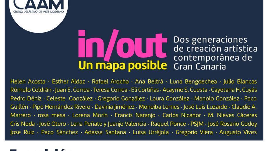 In/Out: Un mapa posible. Dos generaciones de creación artística contemporánea de Gran Canaria