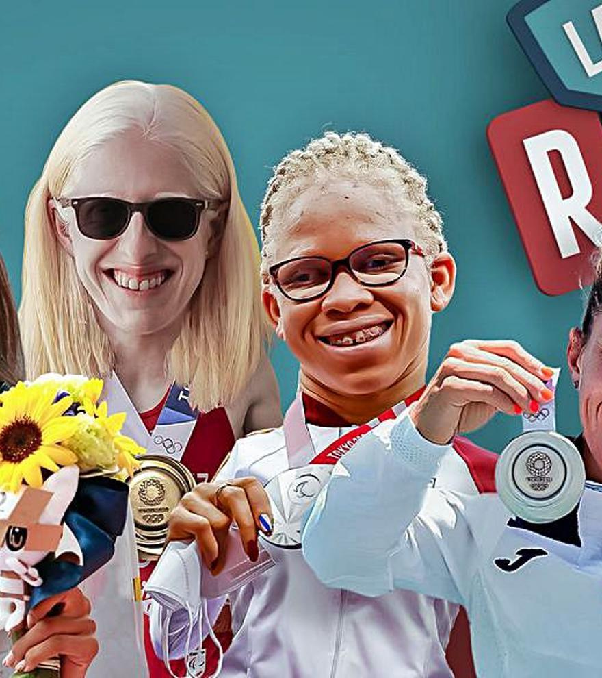"""Las cuatro medallistas olímpicas gallegas visitan """"Land Rober"""""""
