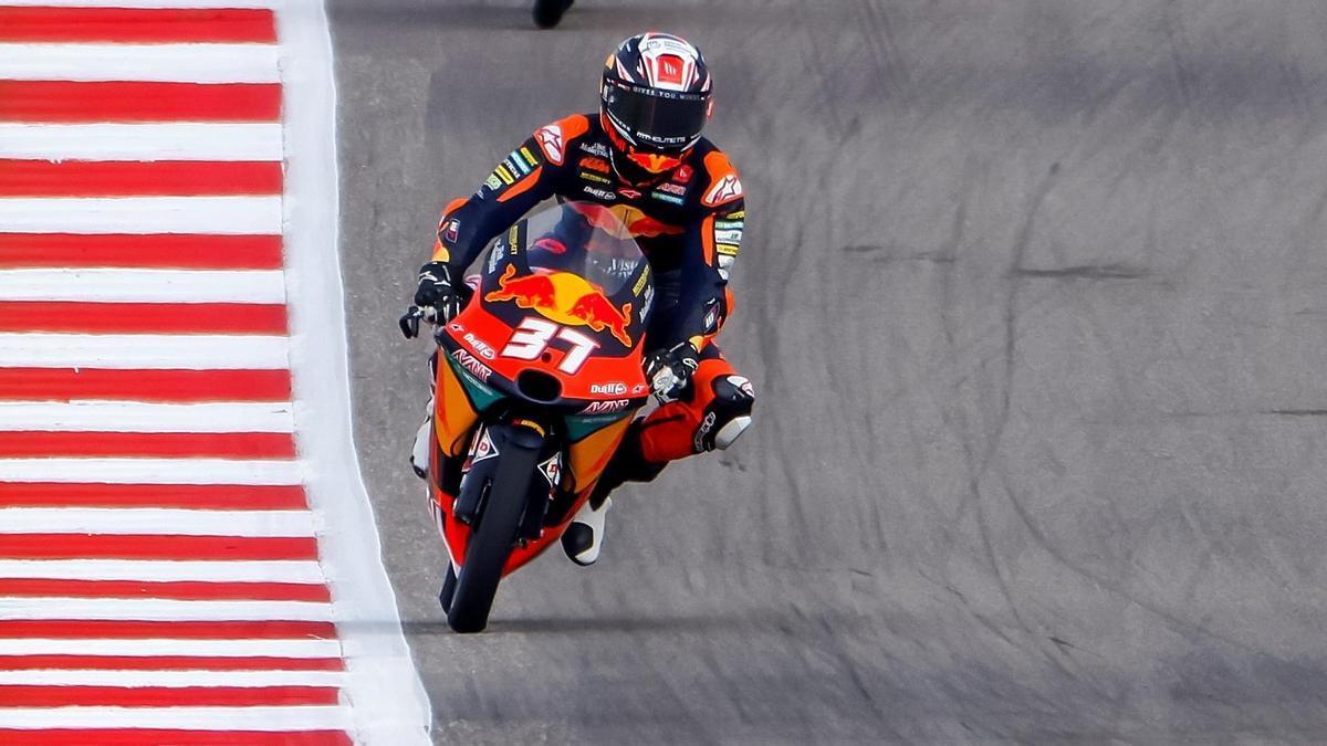 Pedro Acosta durante el fin de semana de GP en el circuito de las Américas.