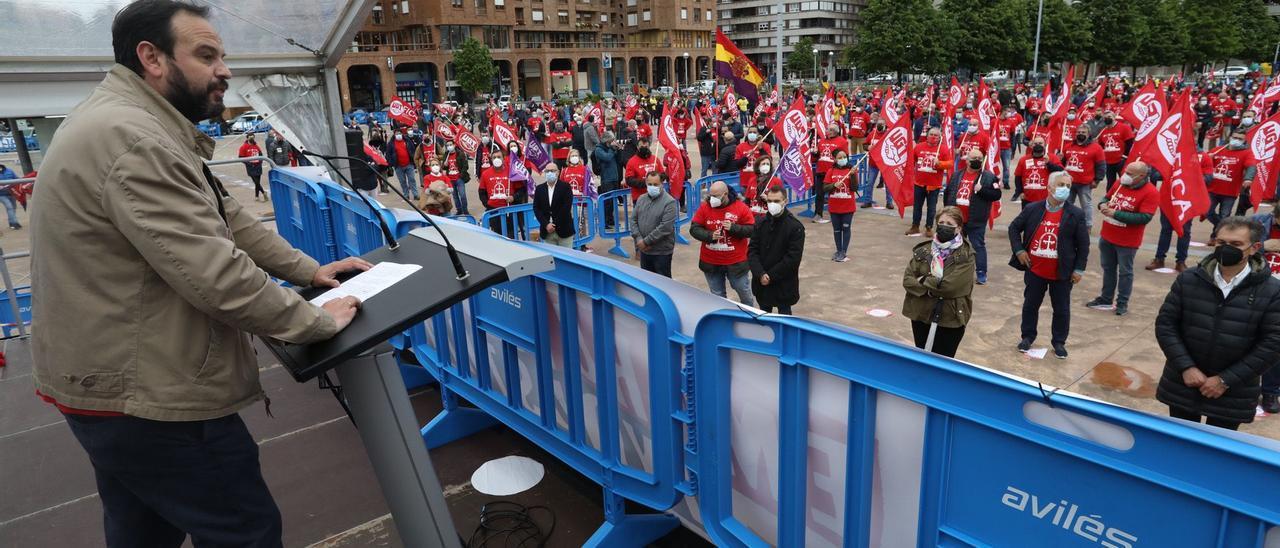Manifestación por la industria en Avilés