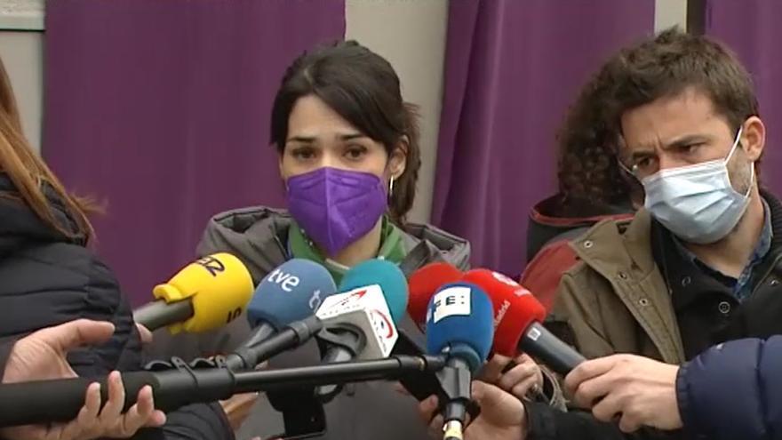 """Podemos acusa a la justicia de """"patriarcal"""" por avalar el veto a las marchas del 8M"""