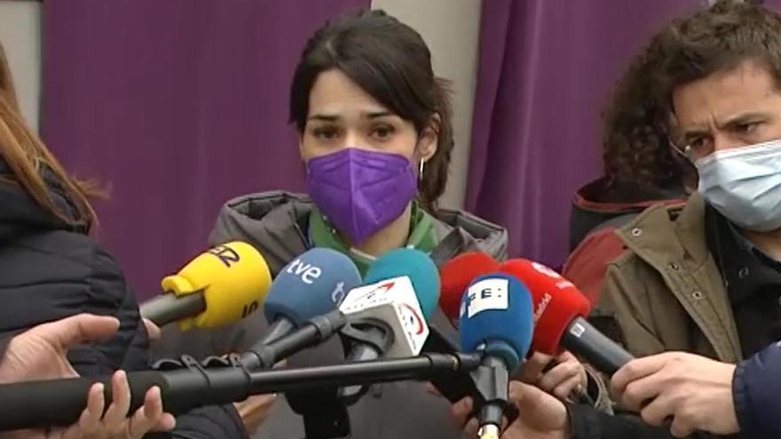 """Podemos: """"No es comprensible que no dejen manifestarse a las mujeres"""""""