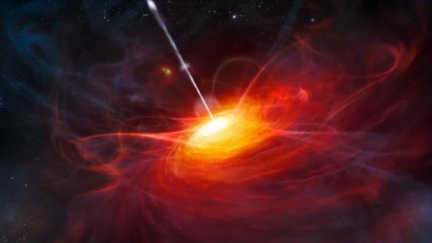 Un colosal agujero negro desconcierta a los astrónomos.