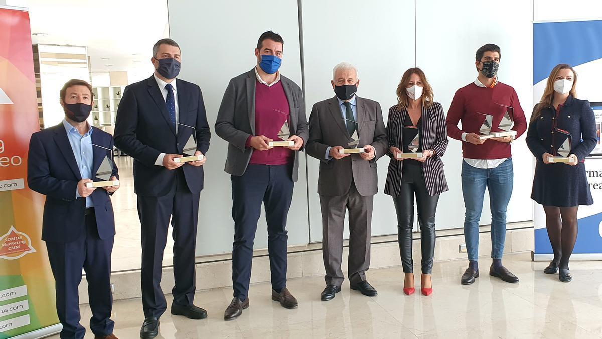 Imagen de los galardonados en los Premios MIA, organizados por el Club de Marketing del Mediterráneo.