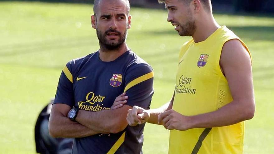 """Guardiola: """"No seré presidente del Barça, para eso ya está Piqué"""""""