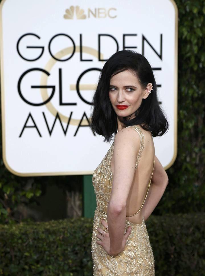 Eva Green arrives at the 73rd Golden Globe Awards in Beverly Hills