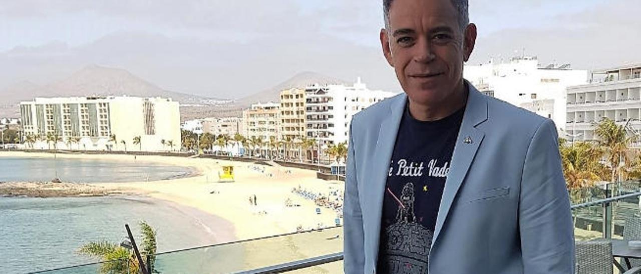 Miguel Mota, en el Arrecife Gran Hotel.