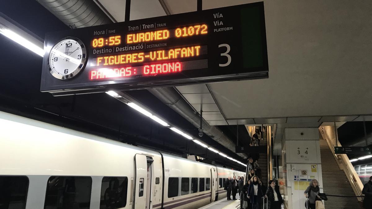 Una estación de Renfe en Cataluña.