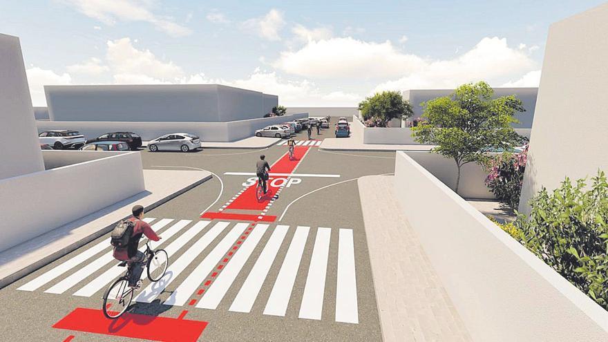 San Bartolomé proyecta 'ciclocalles' en Playa Honda