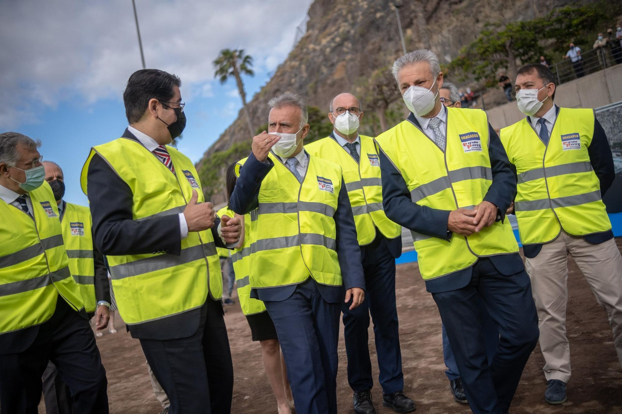 Inicio de las obras de la playa de Valleseco