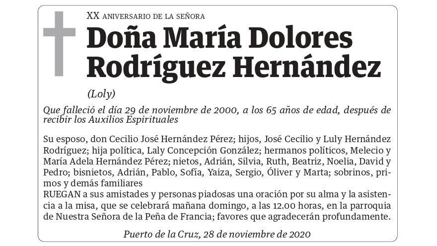 María Dolores Rodríguez Hernández