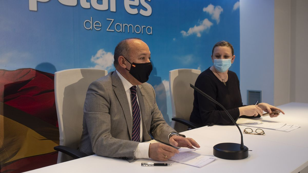 José María Barrios e Isabel Blanco, esta tarde en Zamora.