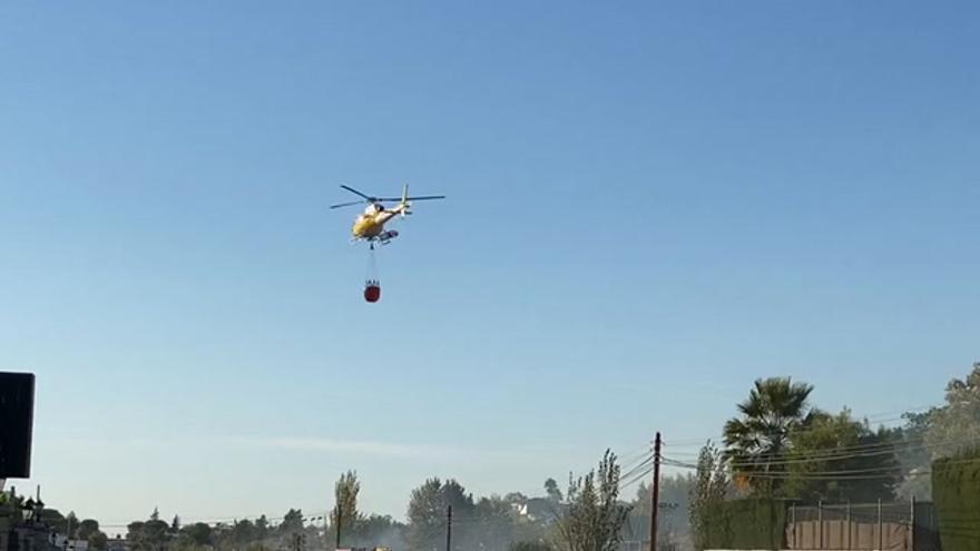 Fuego en la zona de San Marcos de Almendralejo