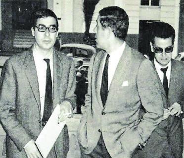 Pineda, Berlanga y González-Sosa, en Gran Canaria, en 1962. | | LP/DLP