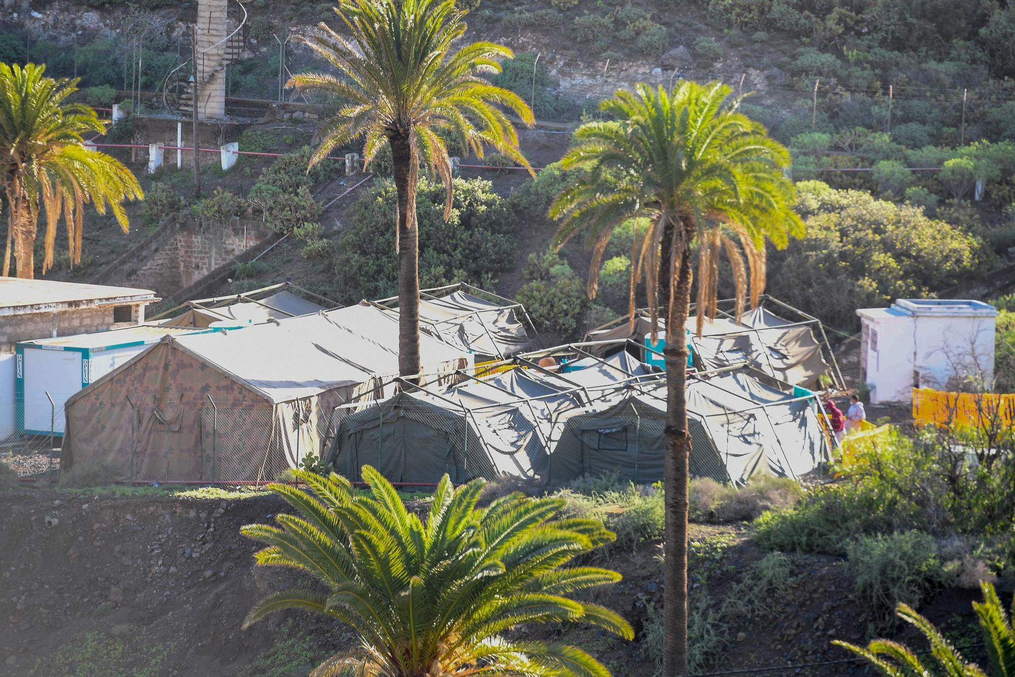 Campamentos de acogida de migrantes en Las Palmas de Gran Canaria