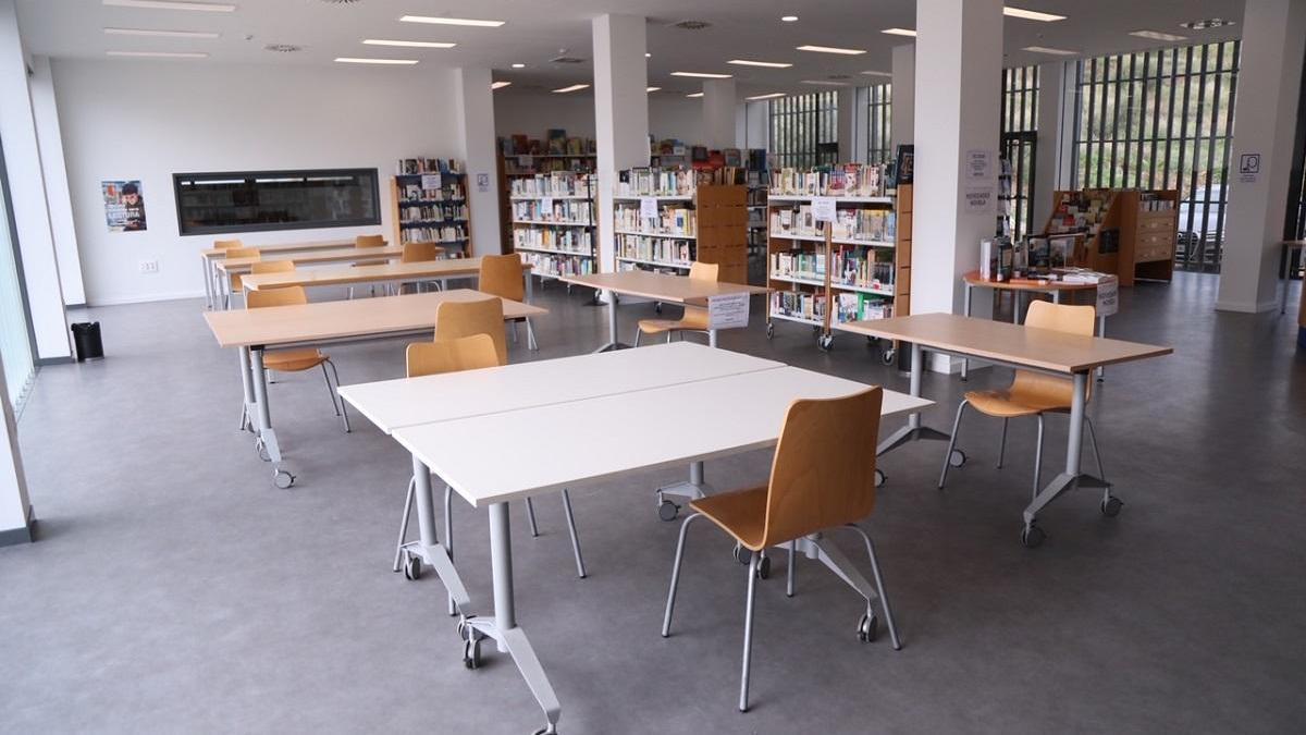 Imagen de la sala de lectura.